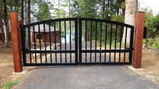 aluminum gates, slider and swing