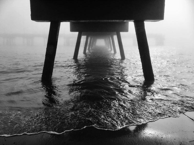 Beneath the St Simons Island Pier by CoCo Harris, Winner of the London Photo Festival Contest