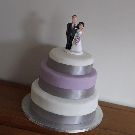 The first wedding cake I ever made.  A Victoria sponge centre with chocolate chips as requested!
