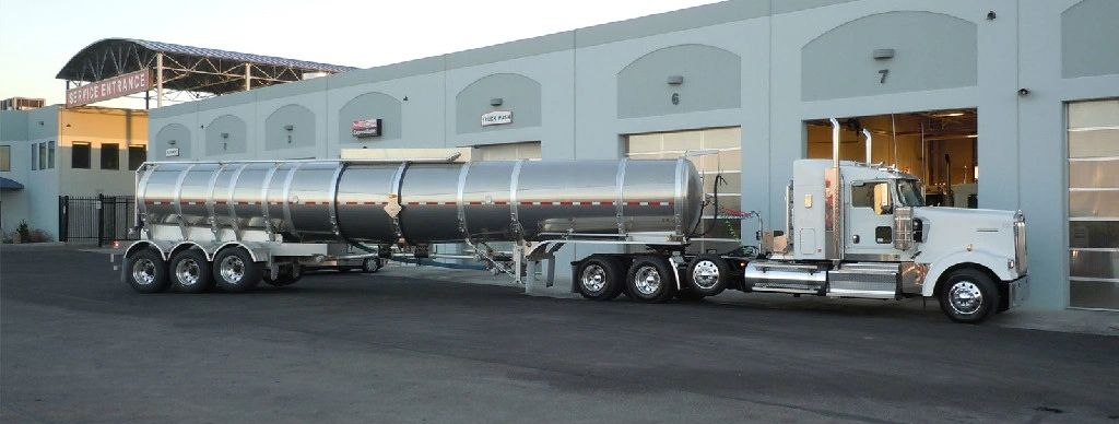 Montana oilfield tanker truck