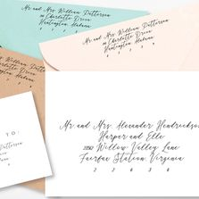 envelope addressing, calligraphy, address template