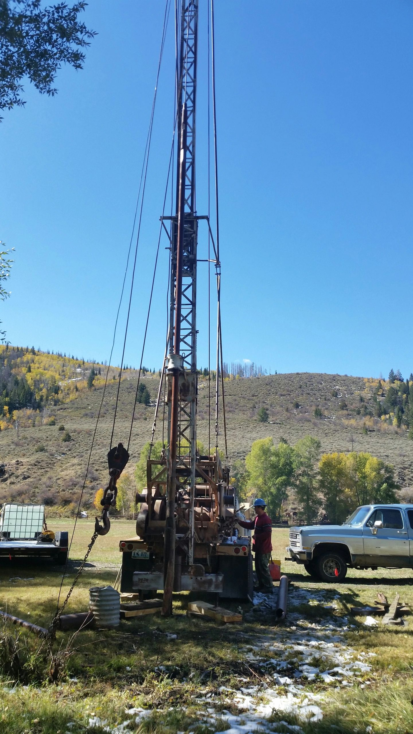 One Man Water Well Drilling Rigs