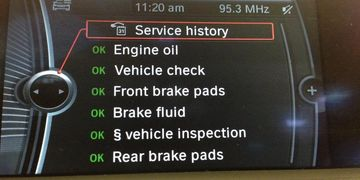 bmw online service history