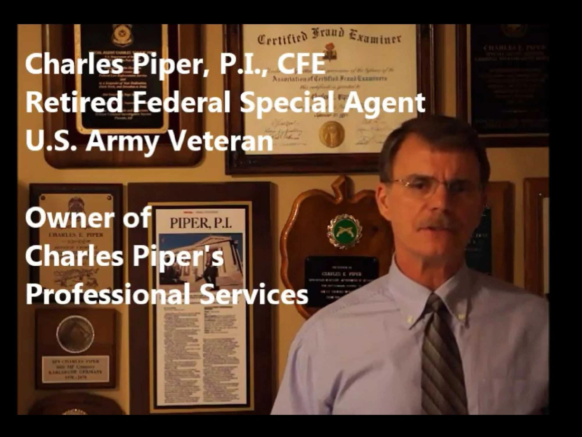 Memphis Private Investigator - Charles Piper's Professional