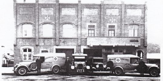 The first ambulance station in Railway Pde.