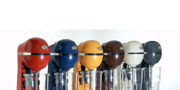 Appliances for the bar and catering sector, bar mixer, milk shake maker, colourful, on trend