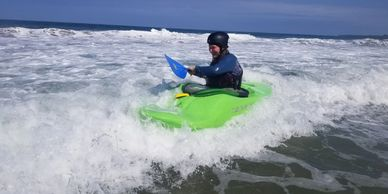 Warm water whitewater kayaking on Costa Rica rivers and kayak surfing in the ocean.
