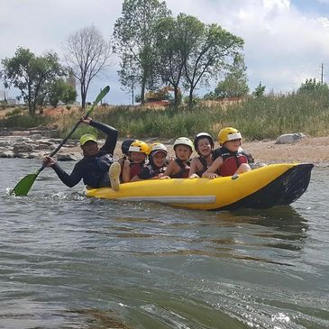 Whitewater kayaking, group programs, Colorado, empowering individuals