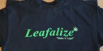 LEAFALIZE Black T-Shirt
