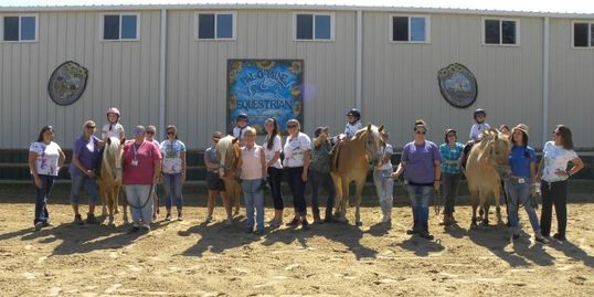 Pal-O-Mine Equestrian, Speech in Motion, Speech Language Pathology in Motion CAMP program, horses