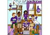 Cartoon illustration for the cover & feature article of The K-Stater, the alumni magazine for Kansas State University