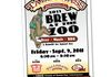 Illustration and poster design promoting Brew at the Zoo for Tallgrass Brewing Company (Manhattan, KS), featuring a cartoon gibbon holding a beer