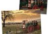 Special effects retouching of photo of chuck wagon (original photo taken of museum display)