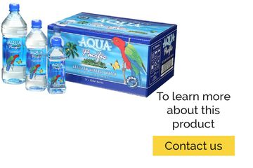 Aqua Pacific Artesian Mineral Water Product Line. 330ml, 600ml, 1Liter, 1.5Liter. Available in cases