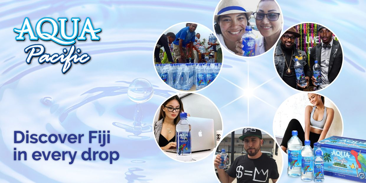Aqua Pacific pure artesian mineral water. Discover Fiji in every drop.