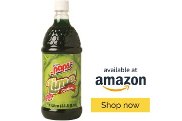 Enjoy Pops Lime Syrup. Tart, sweet, tropical lime flavor and made with real cane sugar.