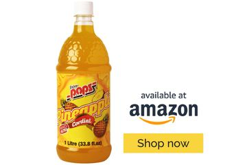 Enjoy Pops Pineapple Syrup. So refreshing and made with real cane sugar.