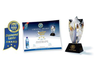 "Aqua Pacific - awarded with the iTQi ""Superior Taste Award"", and the Crystal Award for excellence."
