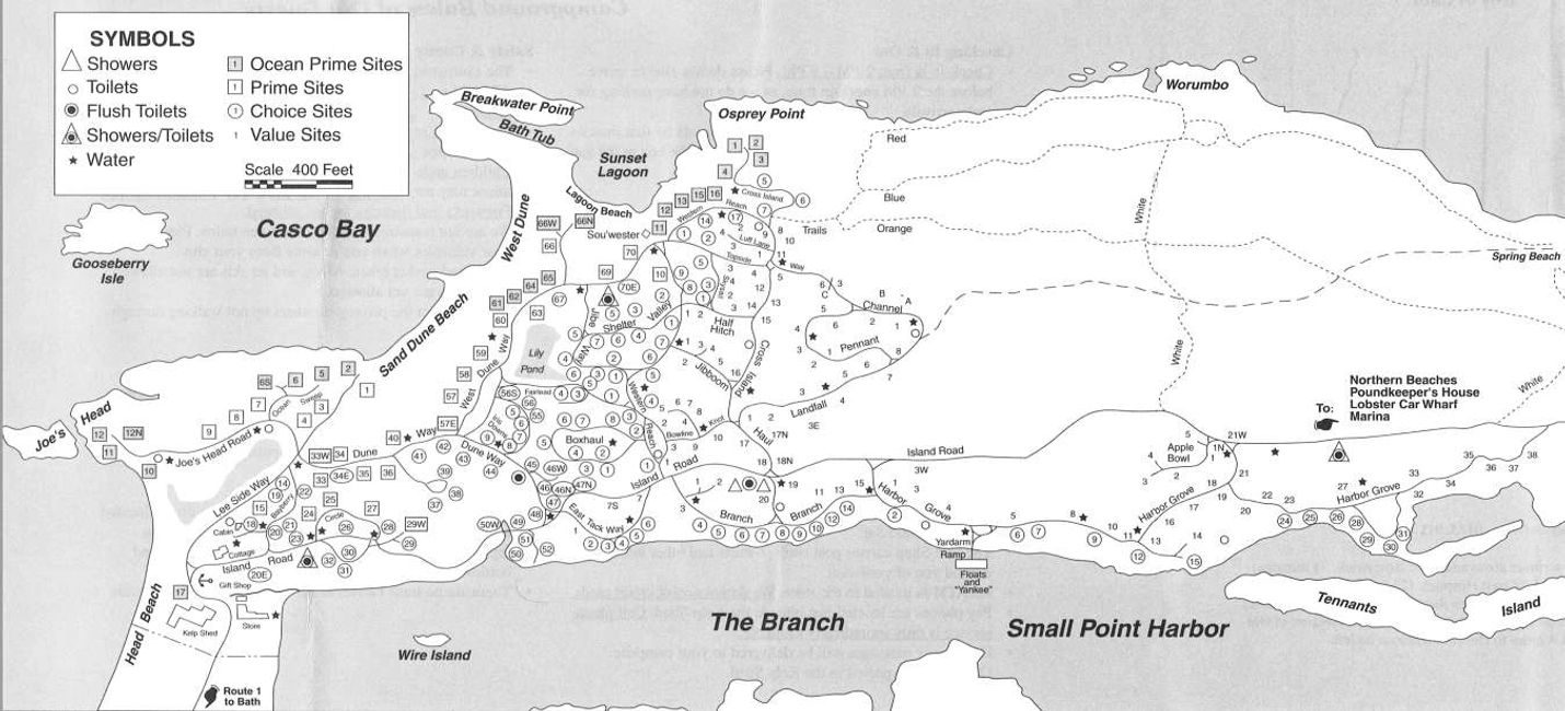 Campsites Hermit Island Campground