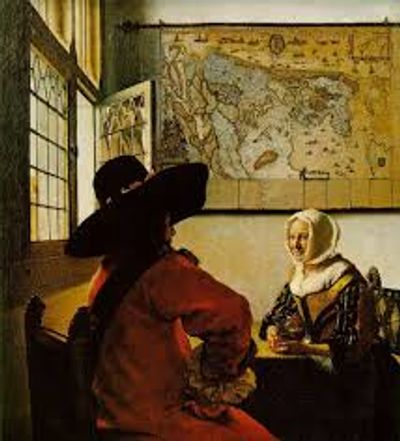 Vermeer, Officer with Laughing Girl