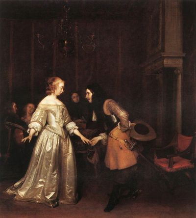 Gerard Terborch, The Dancing Couple