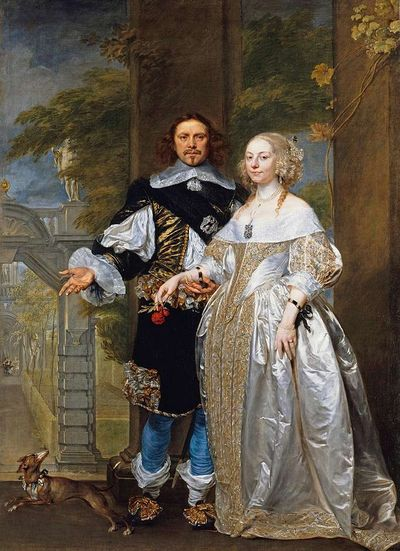 17th century couple, perhaps Duke and Duchess of Newcastle