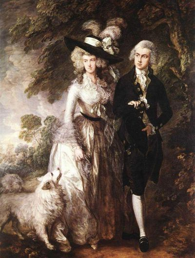 Mr. and Mris. William Hallet, by Gainsborough