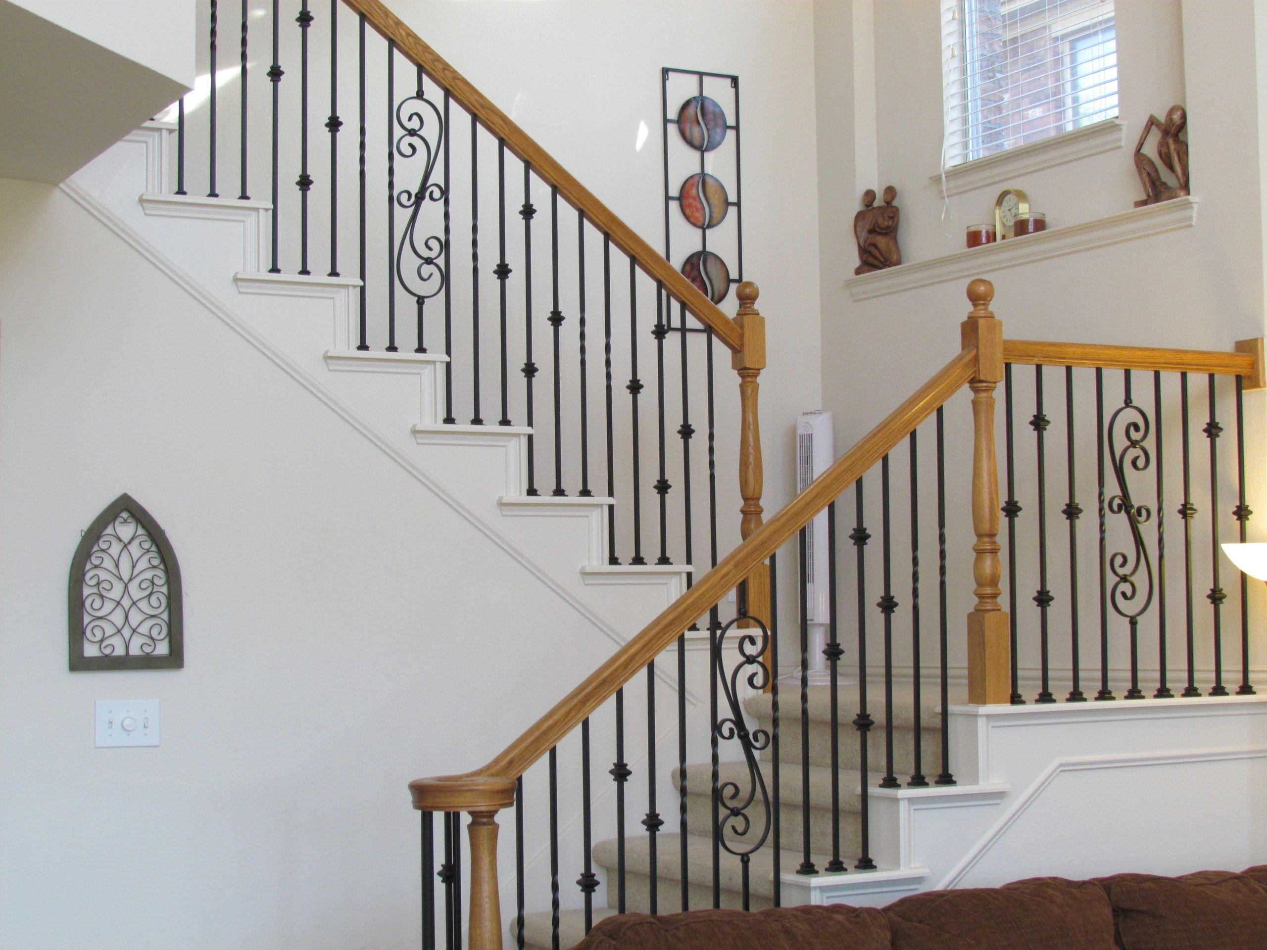 Baluster Store   Iron Stair Railing, Iron Balusters, Stair Handrail