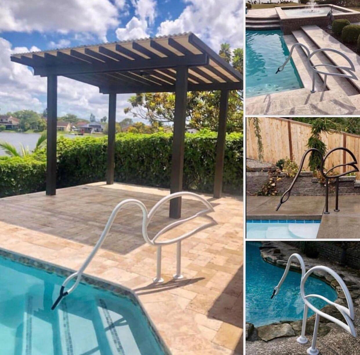 Swan Pool Rails - Swimming Pool Handrails, Swimming Pools, Pool Rails