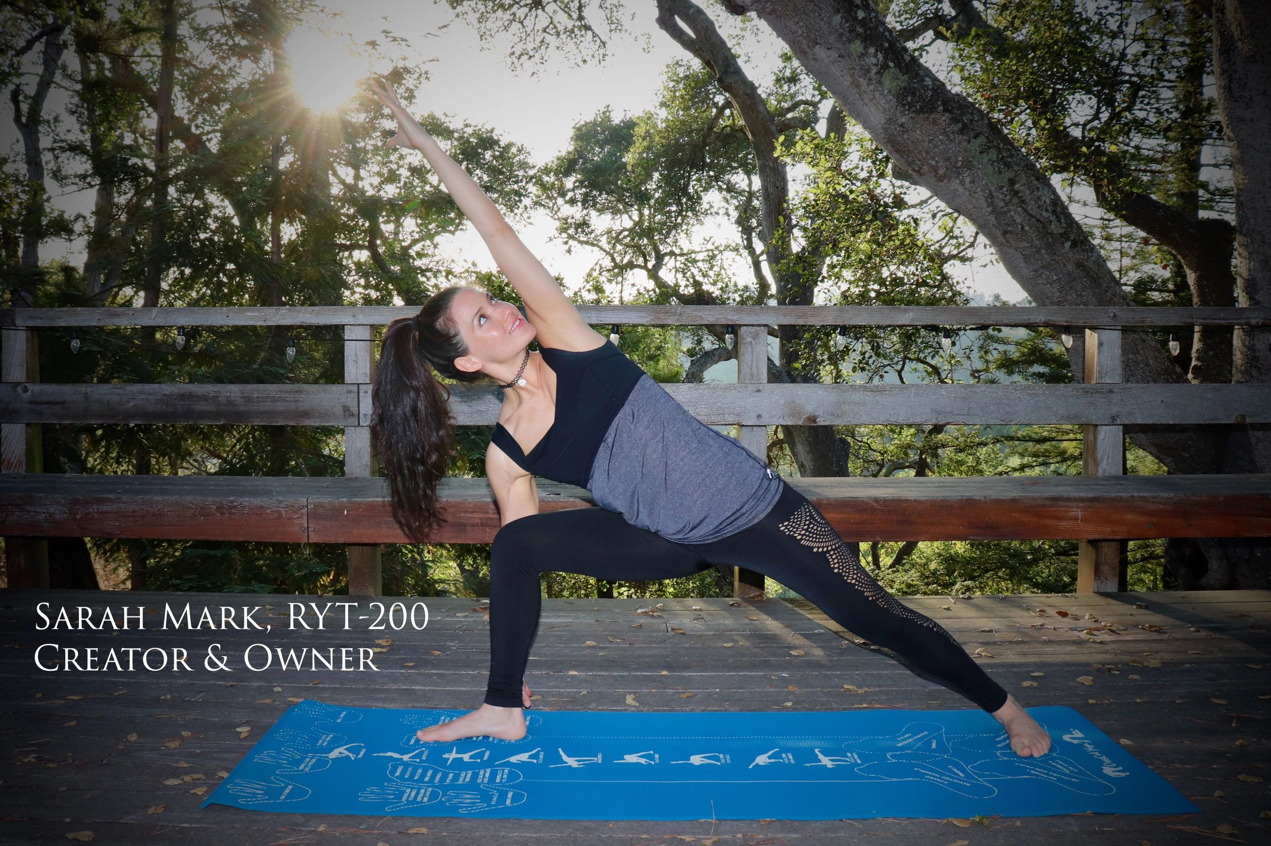Copycat Yoga Instructional Yoga Mat Alignment Yoga Mat Yoga Mat