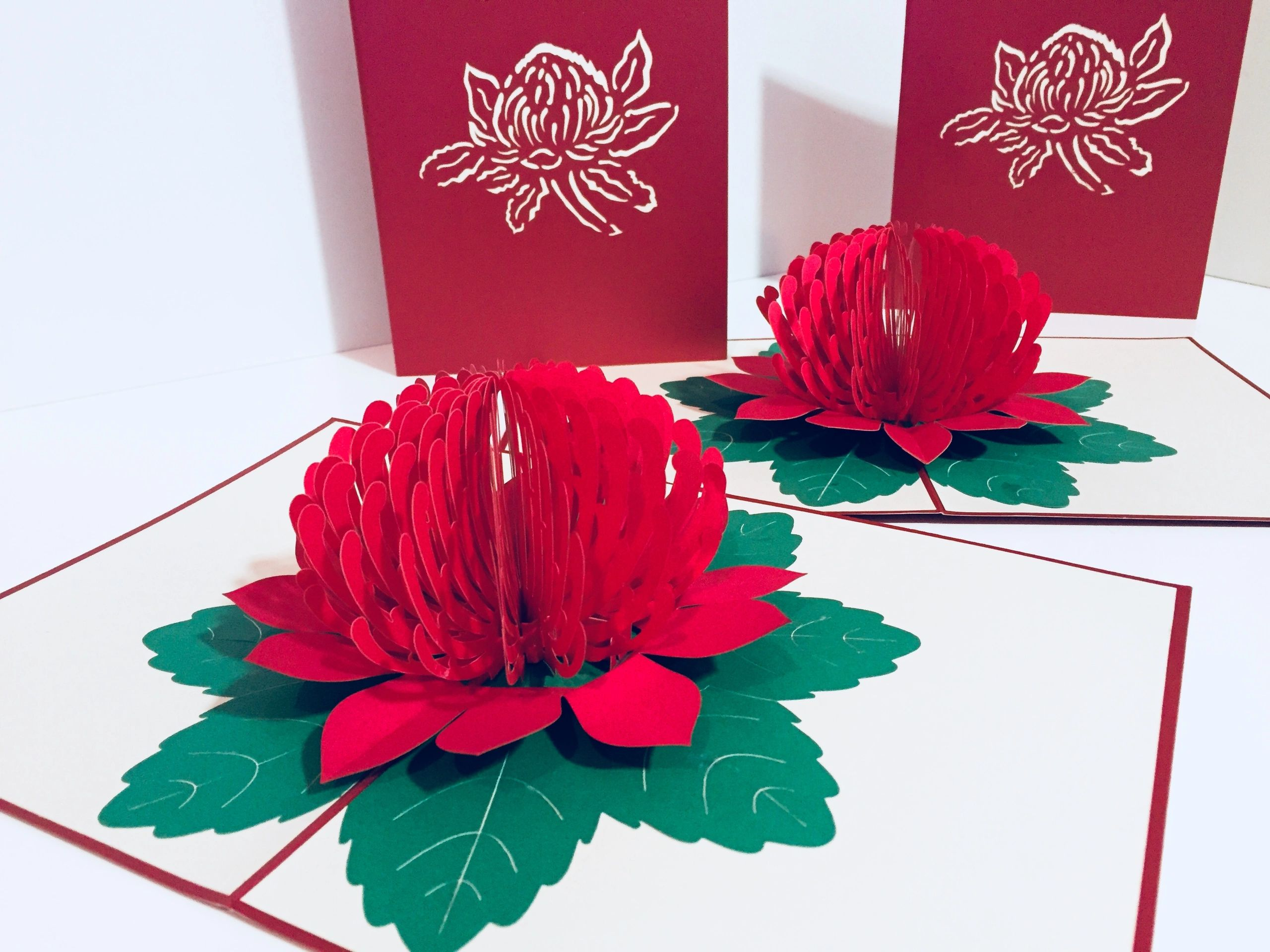 Origami Pop Cards Paper Pop Up Greeting Cards Handmade With Love
