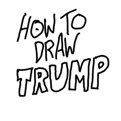 how to draw trump