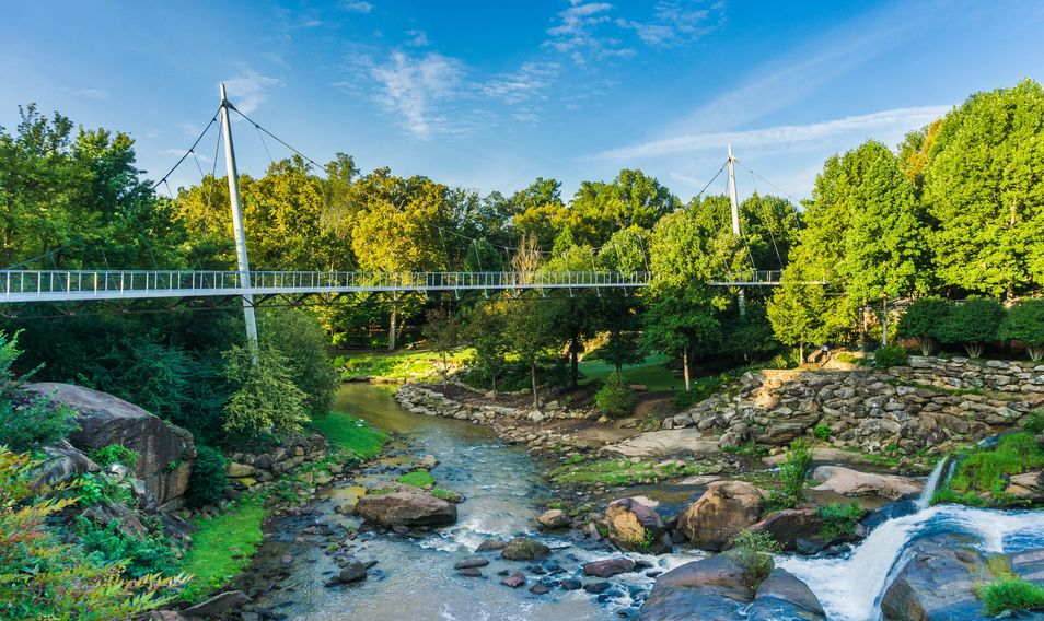 Liberty Bridge, downtown Greenville.