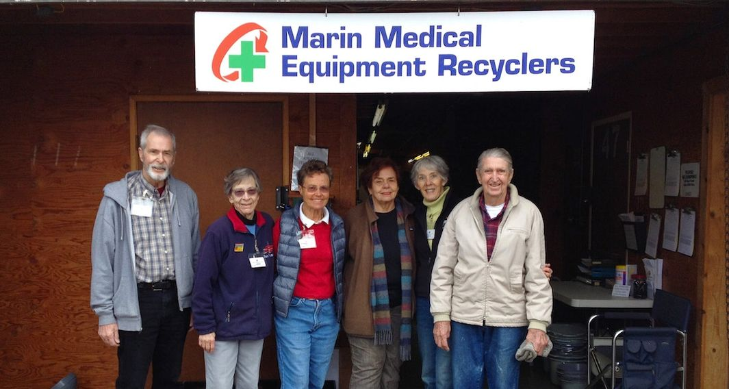 The volunteers of Marin Medical Equipment Recyclers