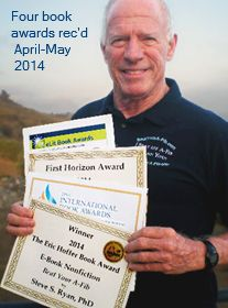 Steve Ryan with four book awards in four weeks for Beat Your A-Fib  (April -May 2014)
