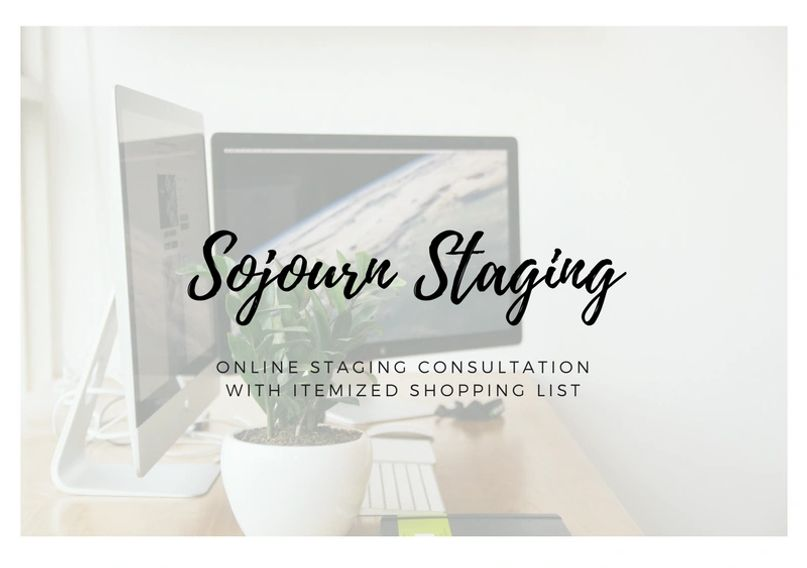 Online home staging consultation with itemized shopping list to help you stage your home like a pro.