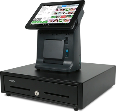 "The MB3000 offers your business a fully-integrated tilting 9.7"" touch screen POS system, wired / wir"