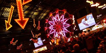 carnival, Gala event, fundraiser, projection, sound, lighting, decor, signage, viper studios