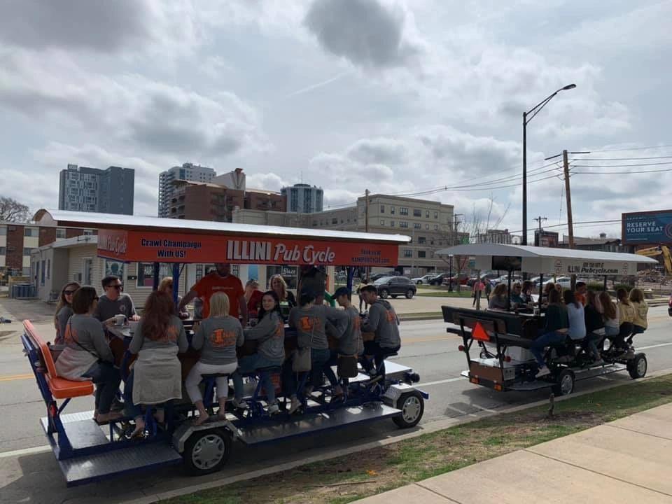 Pedal Bar, Party Bike - Illini Pubcycle - Champaign, Illinois