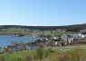 Birds eye view of Pouch Cove, picture taken from a hill by the side of the vacation house