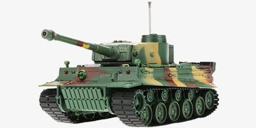3828 126 Scale 27MHz Simulation German Tiger Panzer RC Battle Tank