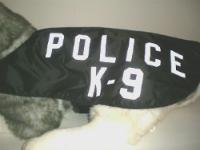 Reflective POLICE K-9 ID Dog Vest