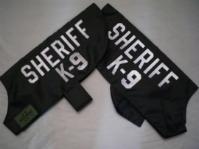 Reflective SHERIFF K-9 ID Dog Vests