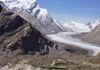 View of drung drung glacier from Pansi La pass in Zanskar - Himalayas.