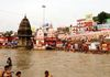 Holy River Ganges in Haridwar - India.