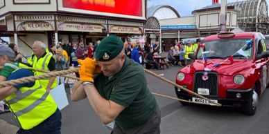 Blackpool Taxi Pull 2019 Armed Forces Day Charity