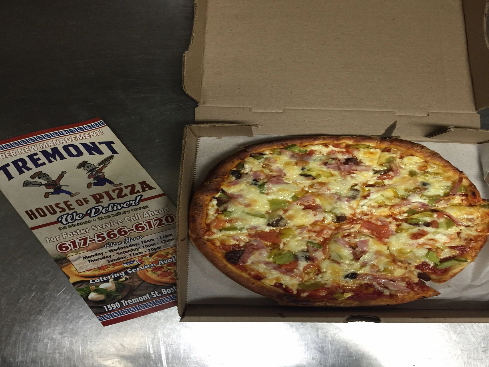 Pizza Restaurant Tremont House Of Pizza Boston Massachusetts