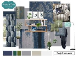 interior design product board navy gold fern design wetherby cheap interior designer