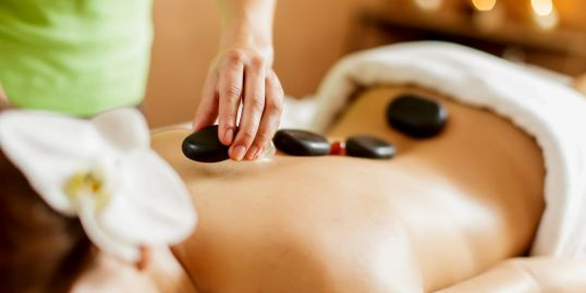 the hot stone expand blood vessels,which encourages blood flow throughout the body
