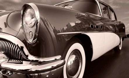 A classic Buick shining on...